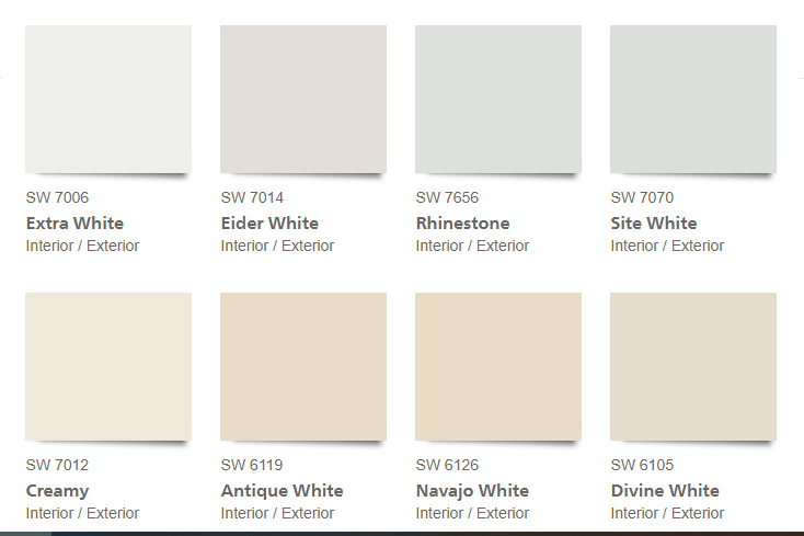 There are an infinite number of tints, tones and saturations of white paint.
